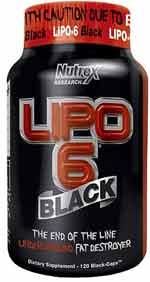 Lipo 6 Black bottle