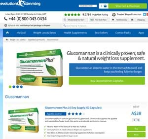 Buy Glucomannan appetite suppressants from Evolution Slimming Australia