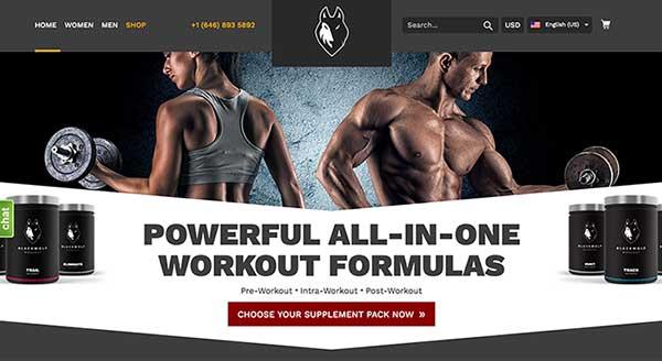Blackwolf Workout Supplements