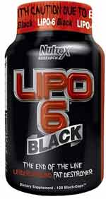 Lipo 6 Black bottle